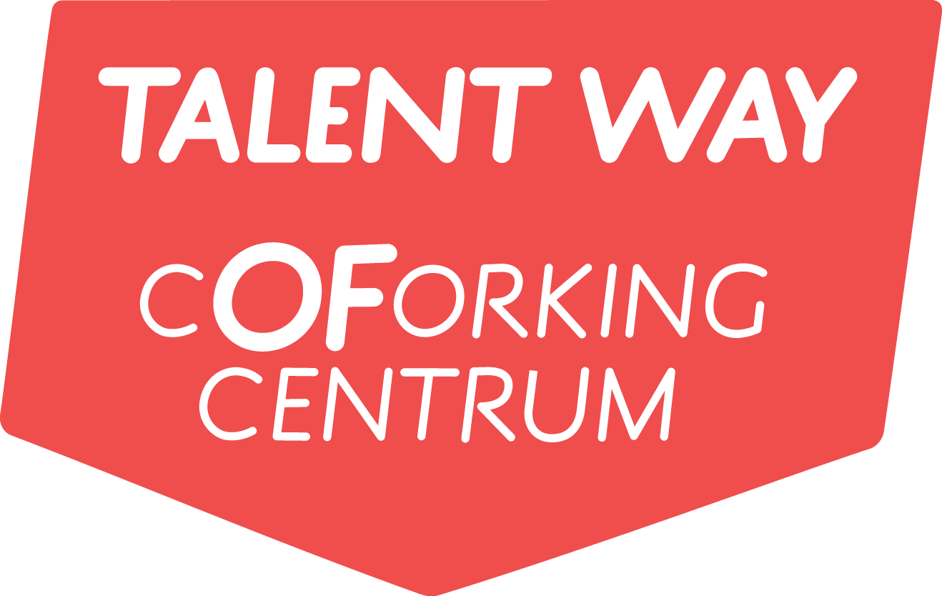logo coforking centre red